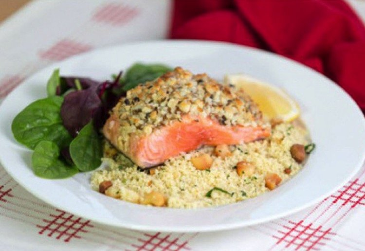 mom90758 reviewed Macadamia crusted Salmon with Macadamia Couscous