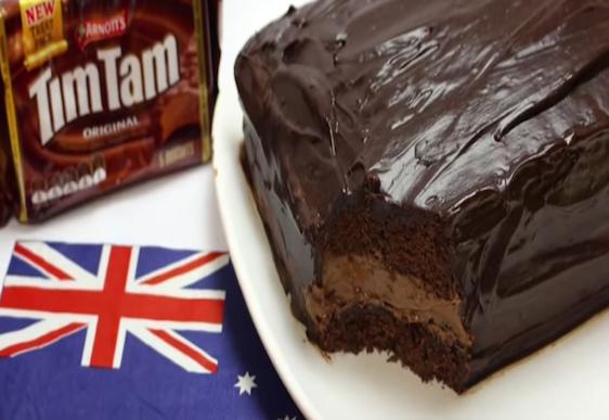 Make a Tim Tam cake for Australia Day