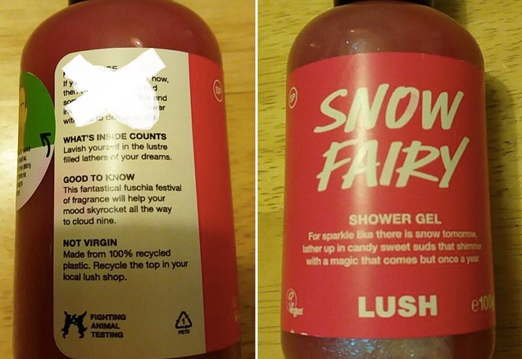 Mum horrified over 'inappropriate' instructions on Lush shower gel