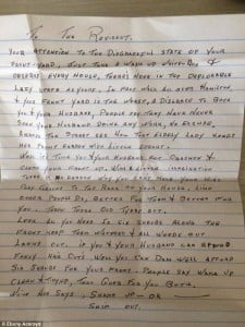 letter re yard