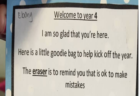 Teacher's brilliant welcome letter to her students