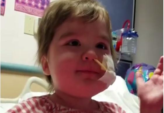 Video: Little girl's inspiring singing from her hospital bed