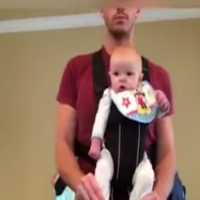 Video: This is what happens when Dad is left alone with the baby