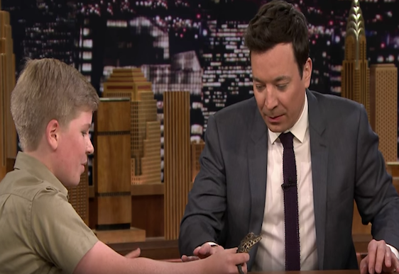 Robert Irwin wows on the Tonight Show with Jimmy Fallon