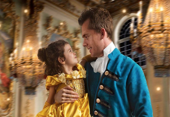 Dad makes daughter's Beauty and the Beast dream come true