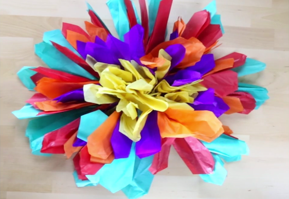 How to make paper flower decorations