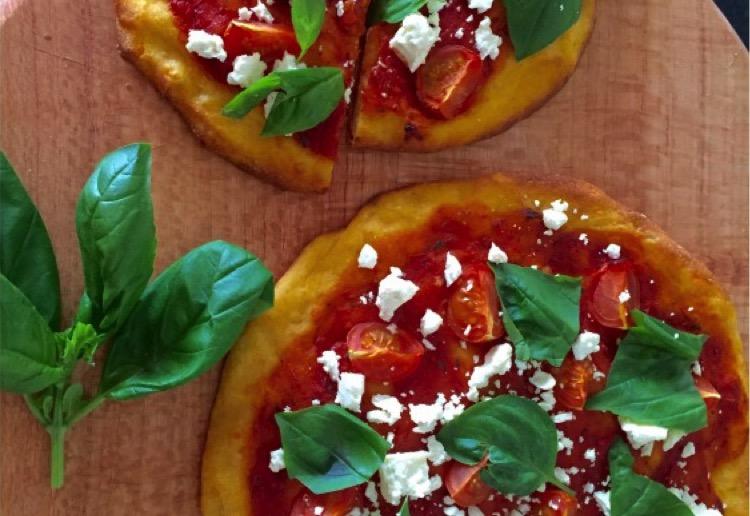 FODMAP friendly sweet potato base pizza