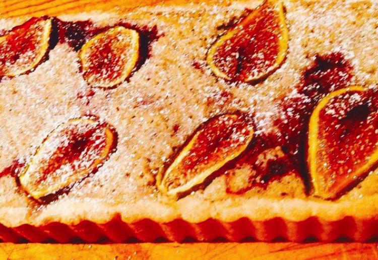 Fresh Fig & Almond Frangipane Tart