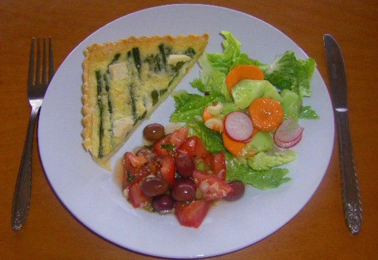Leek and Asparagus Quiche