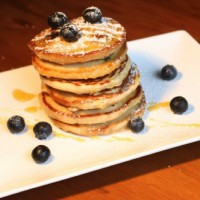Blueberry vanilla pikelets