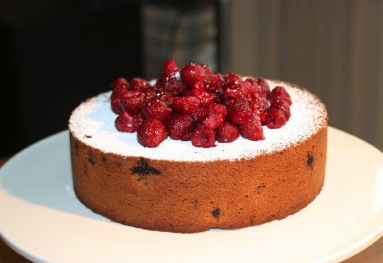 Gluten free raspberry cake