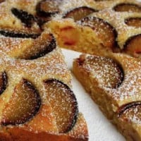 Plum Almond Meal Tart