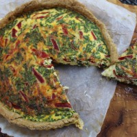 Quiche with Wholemeal Olive Oil Crust