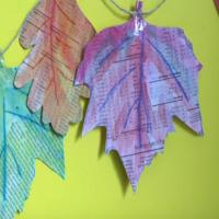 Make an Autumn leaf bunting
