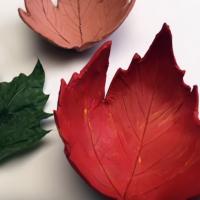 Autumn craft: Make a gorgeous clay leaf bowl