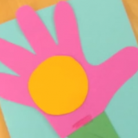 Handprint flower card for Mother's Day