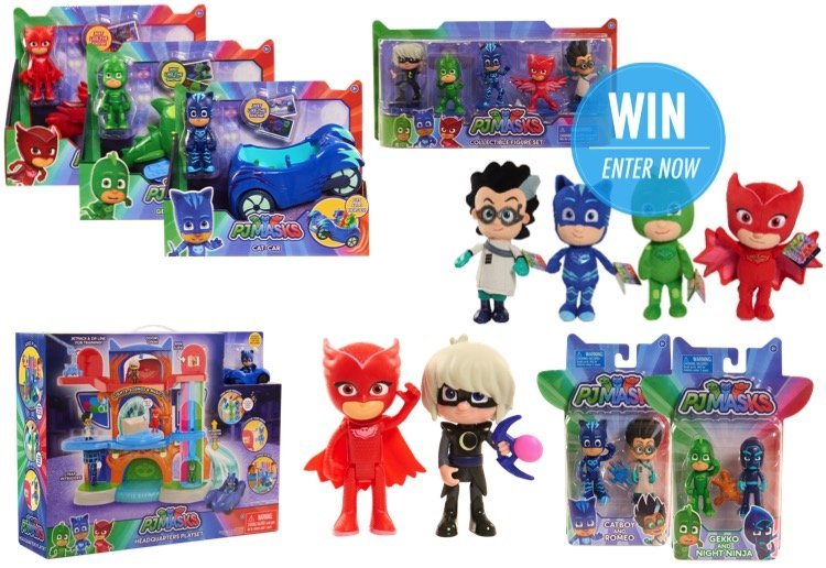 WIN 1 of 3 Awesome PJ Masks Prize Packs!