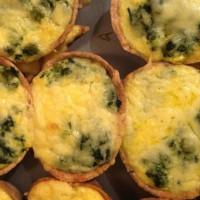 Spinach and Pea Cheat Mini Quiche