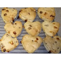 Mulberry and white chocolate scones