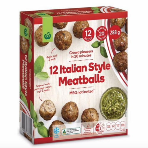 Maida reviewed Woolworths Frozen Italian Style Meatballs