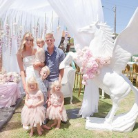 Mother throws lavish celebration for her daughter's 1st birthday