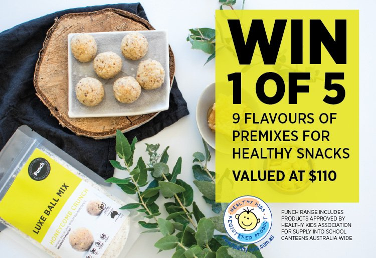 WIN 1 of 5 SETS of Funch's premixes for DIY healthy lunchbox snacks