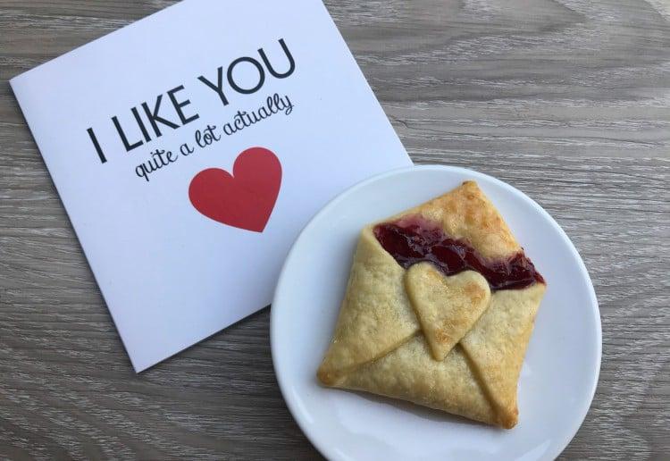 Valentines Day Raspberry Envelopes