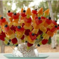 yummy fruit skewers