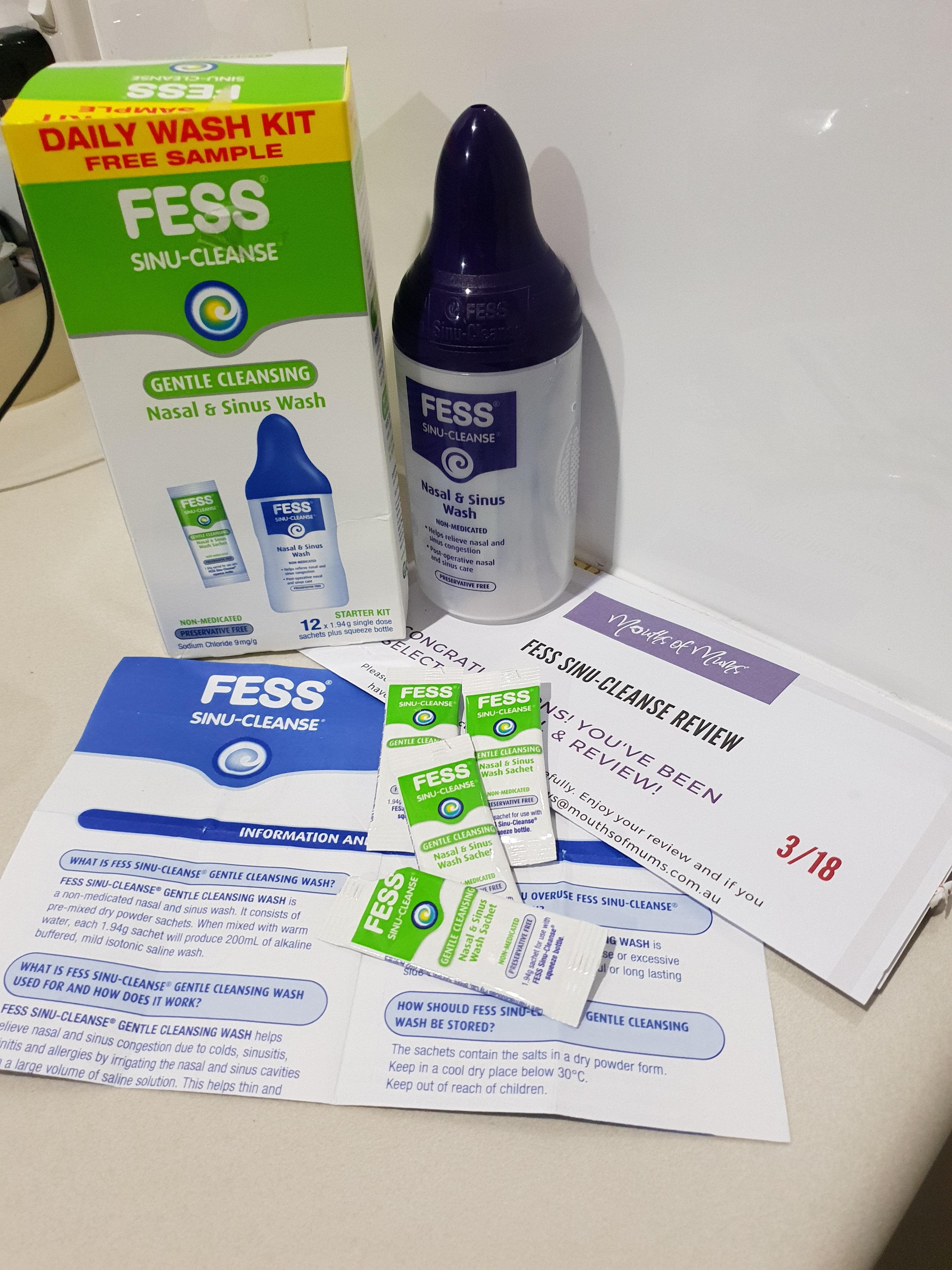 6f44bab4c9b8 FESS® Sinu-Cleanse Gentle Cleansing Nasal   Sinus Wash Kit Product Review
