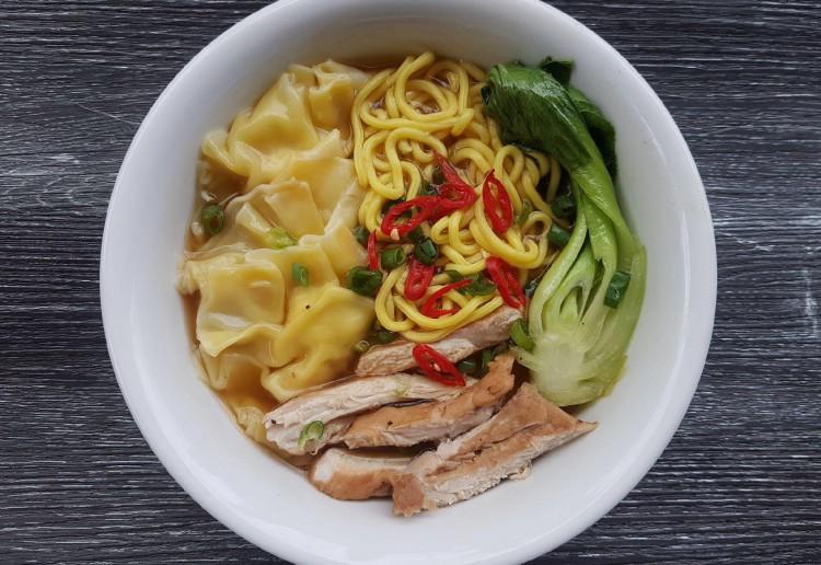 Chicken Wonton  & Noodle Soup
