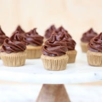 Wholesome Child's Vanilla Muffins with Cauliflower & Choc Date Frosting