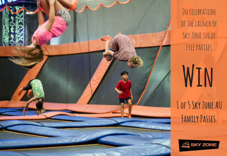 WIN One Of Five Sky Zone Jumping & Climbing Family Passes To Celebrate The New Sugar Free Kids Parties