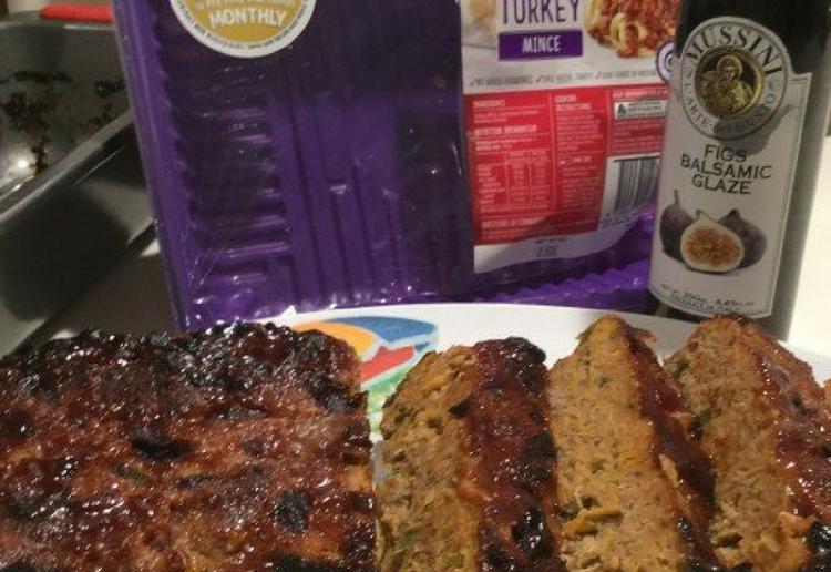 Healthy Turkey Loaf with Sticky Glaze