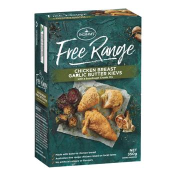 inghams free range freezer range product review_chicken breat garlic butter kievs with a sourdough crumb mix_350x350