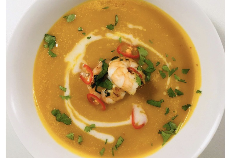 Sally's Indian spiced pumpkin soup