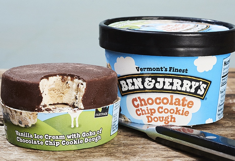 Ben & Jerry's Launches New Ice-Cream Pint Slices For On-The-Go Treats