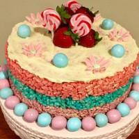 Rice Bubble & Marshmallow Cake
