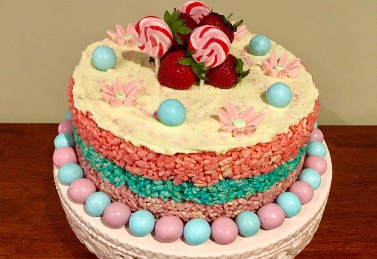 Rice Bubble Marshmallow Cake