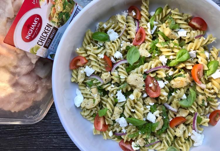 Chicken Pesto Noodle Salad