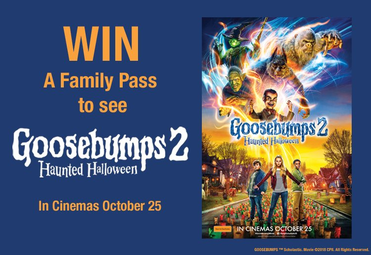 Win a Family Pass to See 'Goosebumps 2: Haunted Halloween'