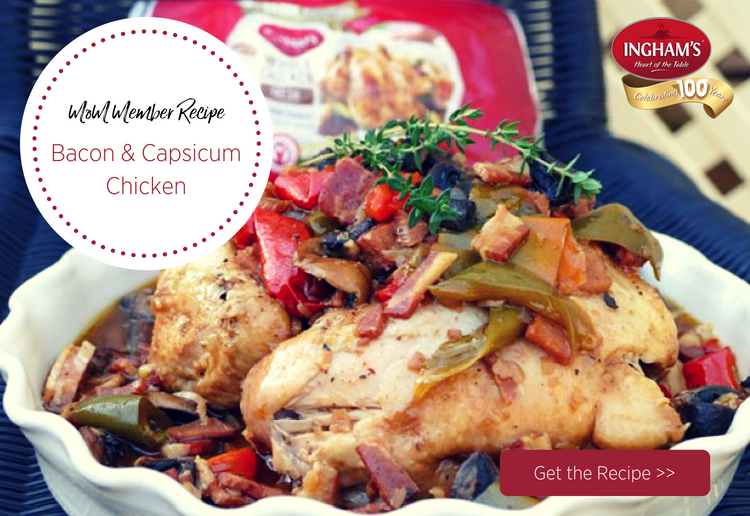 Bacon and Capsicum Chicken