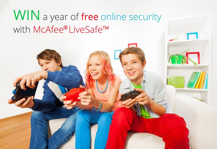 WIN A Year of Free Online Security with McAfee LiveSafe