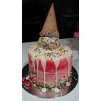 Woolworths White Mud cake Ice cream Birthday cake