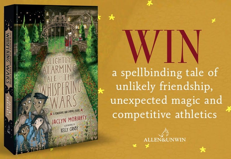 mom93821 reviewed Win one of 22 copies of The Slightly Alarming Tale of the Whispering Wars by Jaclyn Moriarty