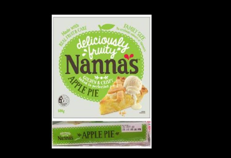 URGENT RECALL Issued for Nanna's Apple Pie