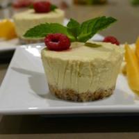 Mini Raw Mango Cheesecakes