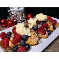 French Toast Panettone with Fresh Berries