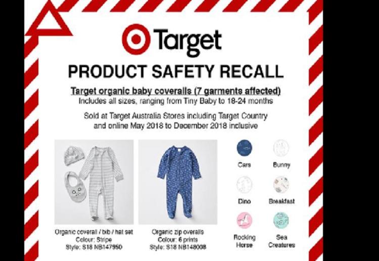 Target Recall Organic Baby Onesie