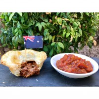 Beef & Mushroom Pies with Chunky Tomato Relish