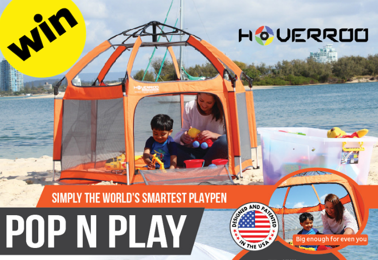 WIN 1 of 3 World's Most Convenient Playpens from Hoverroo Valued at $399